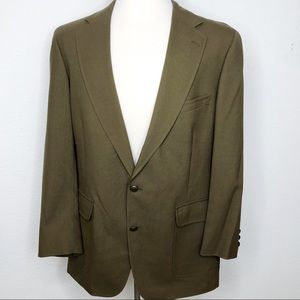 Men's Army Green Jos A Bank Sport Coat wool Blazer
